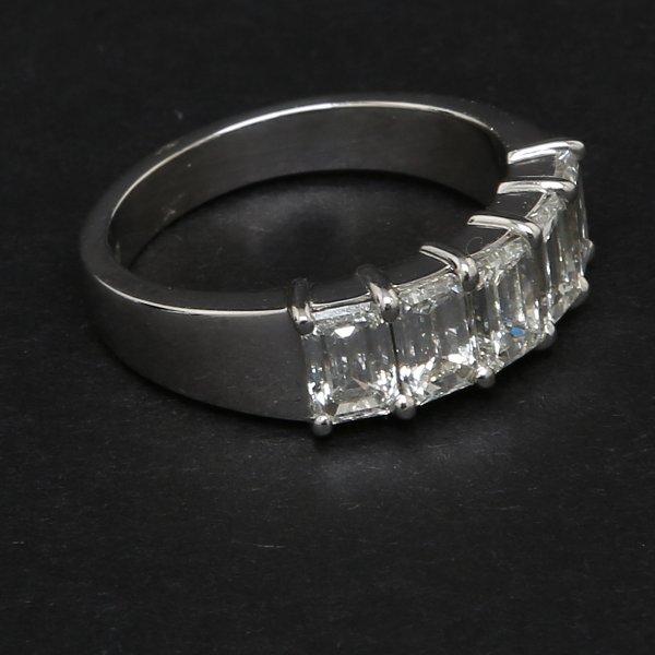 Five Stone Emerald cut Ring
